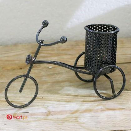 تحفة منزلية على شكل دراجة هوائية مع حامل اقلام