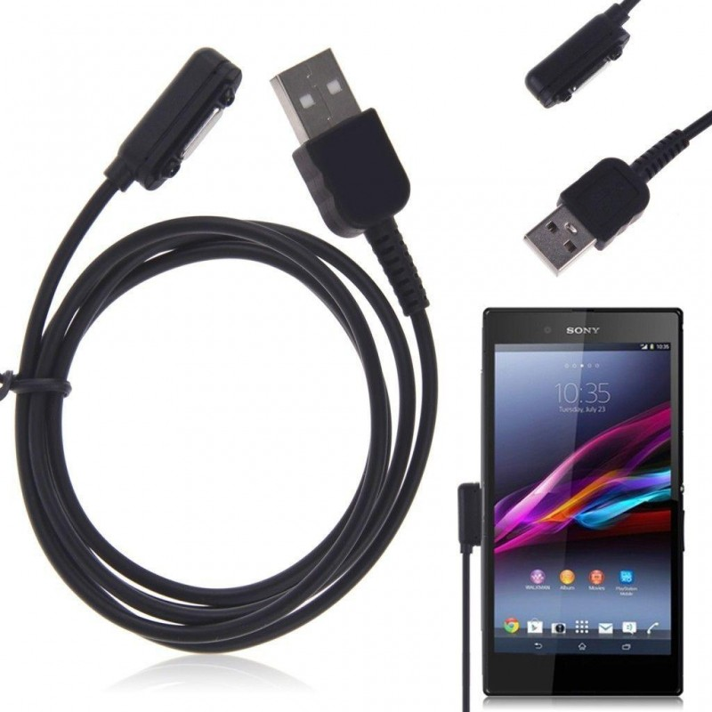 Magnetic Charger Cable For Sony Xperia Z3 Z2 Z1  كيبل شحن لهواتف سوني اكسبيريا