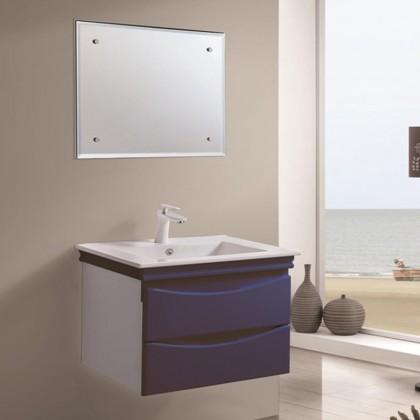 خزانة حمام مع مرآة ومغسلة بدون حنفية