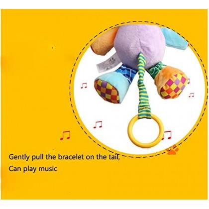 خرخيشة أطفال قماش مع موسيقى jollybaby