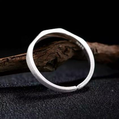 خاتم فضة استريليني 925S صافي 100% قابل للتحجيم