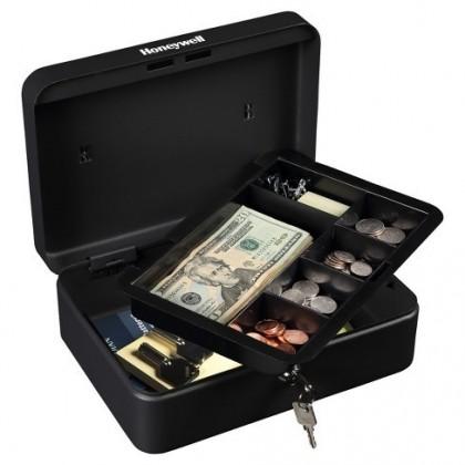 صندوق عملة معدني مع مفتاح حجم large قياس 192585 سم