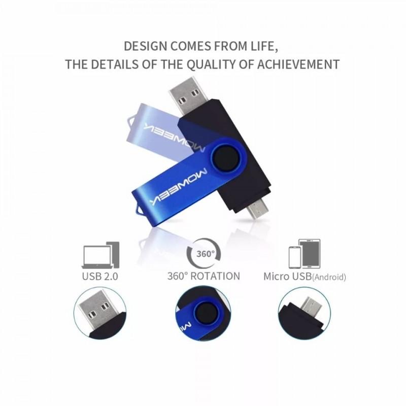 USB FLASH and OTG 4GB ( فلاش للهواتف والكمبيوتر )