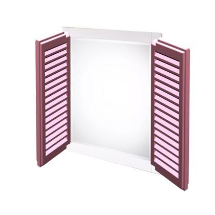 مرآة منزلية على شكل شباك دفات قابلة للإغلاق