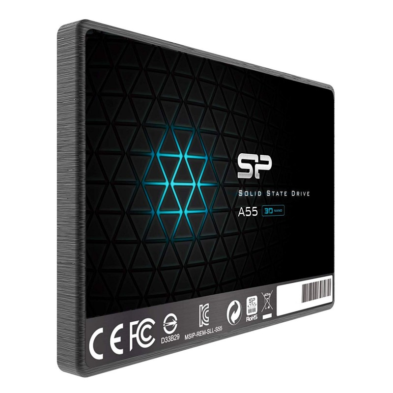 Silicon Power SSD 3D NAND A55 SLC Cache Performance Boost SATA III 1T