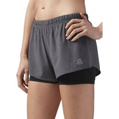 Reebok 2 in 1 running shorts