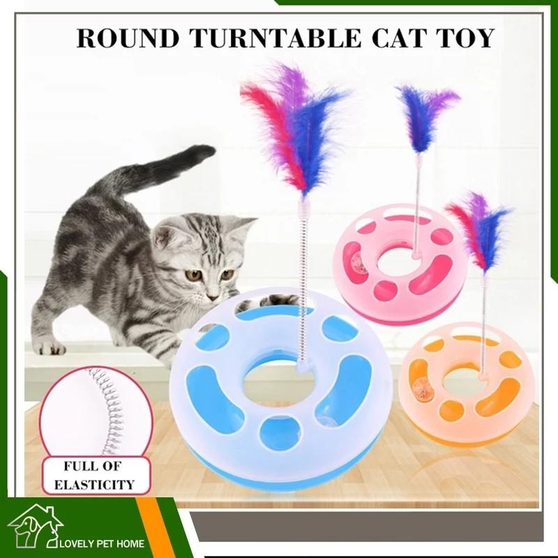 لعبة للقطط مع عامود صغير بتعليقة ريشة