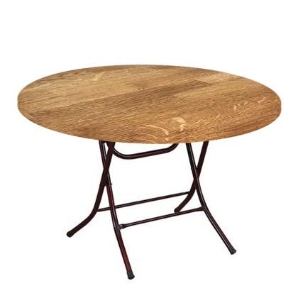 طاولة خشب دائرية قطر 70 سم