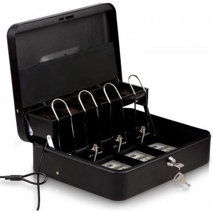 صندوق عملة معدني مع مفتاح قياس 24308 سم