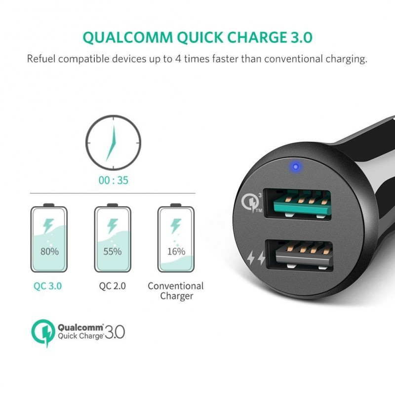 Ugreen Car Charger Qualcomm 3.0 quick charge