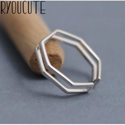خاتم معدني ( فضة و نحاس ) سباعي