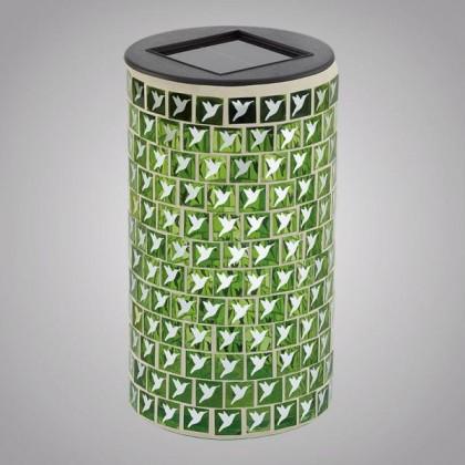 كاس دائري مرصع زجاج اخضر طاقه شمسيه