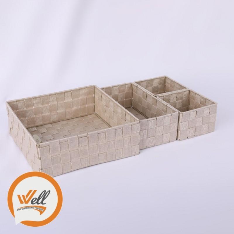 طقم سلات مربع  4 قطع