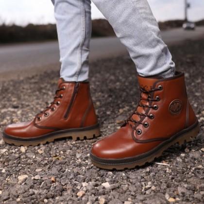 حذاء جلد شبابي من rock