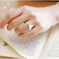 خاتم فضة على شكل فراشة