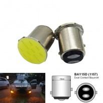 ضوء شعرتين بريك ريفرس غماز ابيض ليد للسيارات بدل P21W لتوفير الطاقة