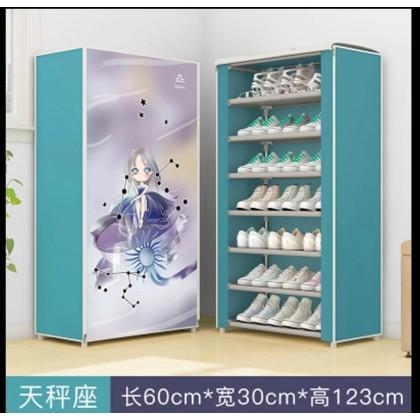 خزانة احذية 7 رفوف ازرق