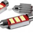 مصباح سيارة مع مبرد C5W LED 12 فائق السطوع 4014 LED زينون الحجم ±36مم