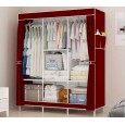 خزانة ملابس حجم كبير لون أحمر خمري