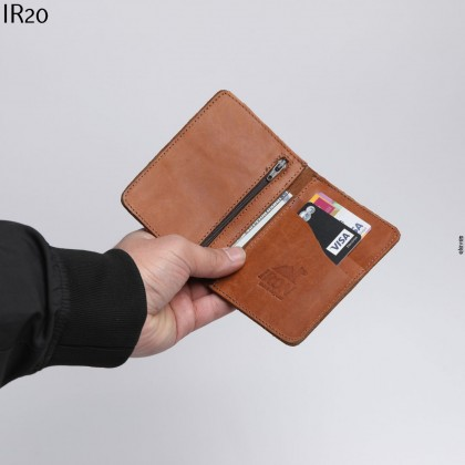 محفظة جيب شبابية جلد طبيعي