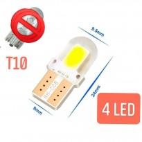 مصباح سيارة T10 ابيض 4 اضواء LED